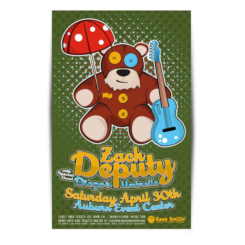 zach deputy concert poster